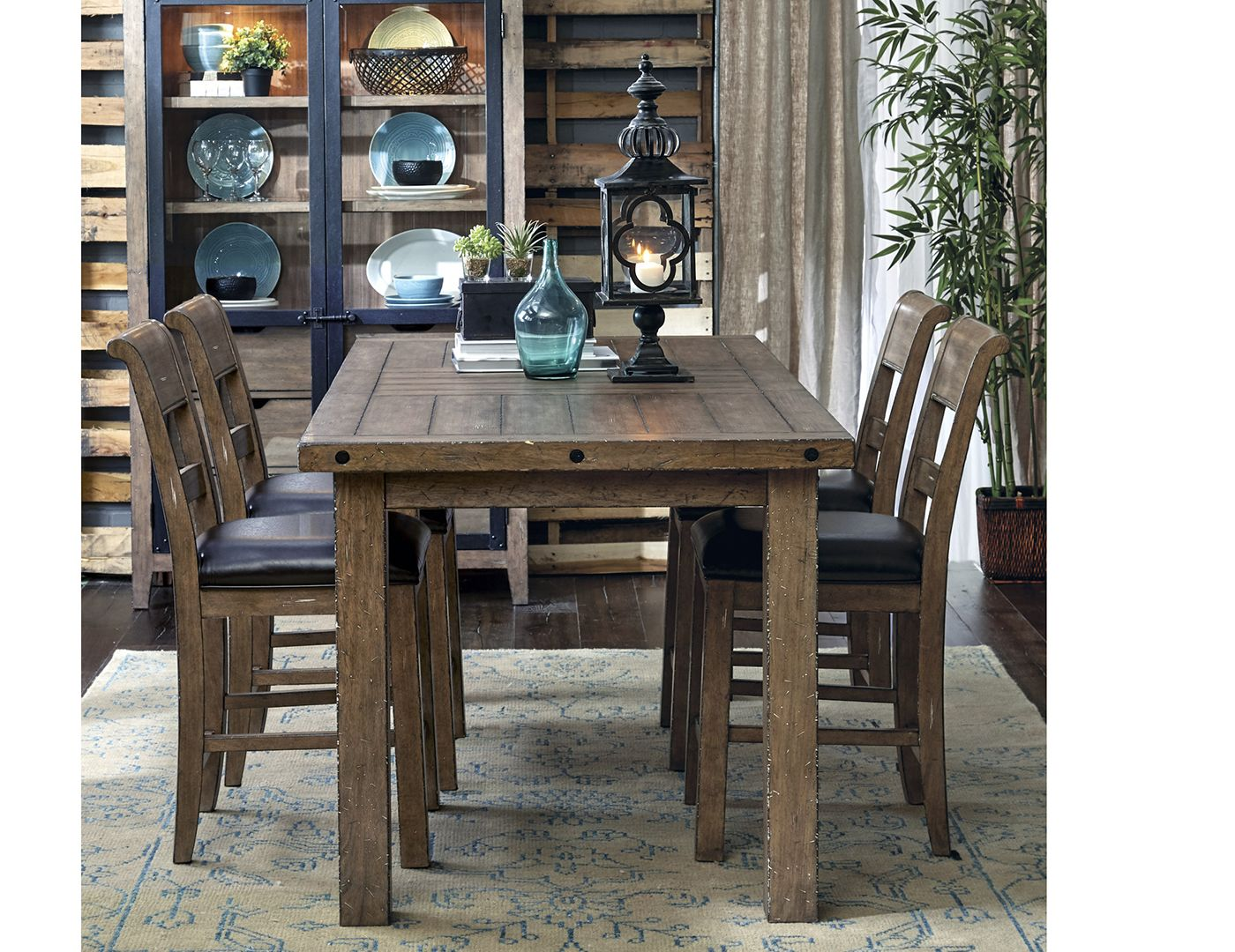 Flatbush Ave 5 pc Counter Height Dining Set