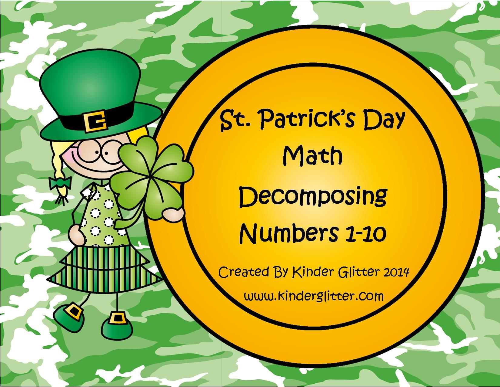 St Patrick S Day Math Decomposing Numbers 1 10