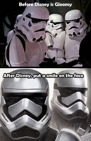 Smiling Stormtroopers After It Was Under Disney Starwars Star Wars Humor Star Wars Memes Star Wars