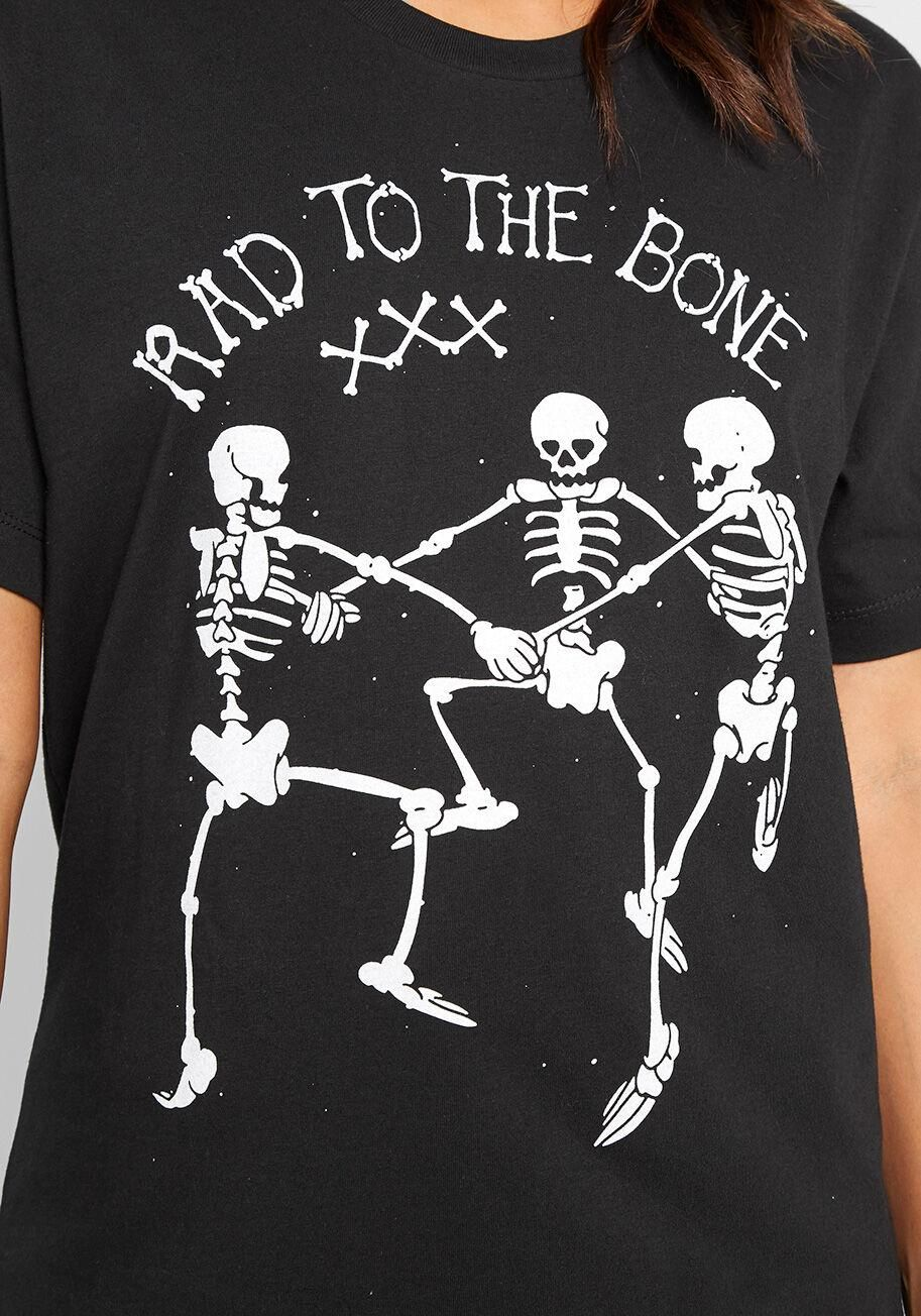 Skeleton Halloween Graphic T-shirt