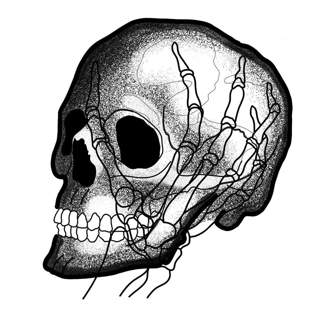 #flash #tattoo #flashtattoo #tattooflash #crane #main #skeleton #squelette #skelhead #dessin #draw #drawing #drawingoftheday #confinementcreatif #messara #hand #head #tatoueurstatoués #tatouage #tatoueurs #dotwork #line