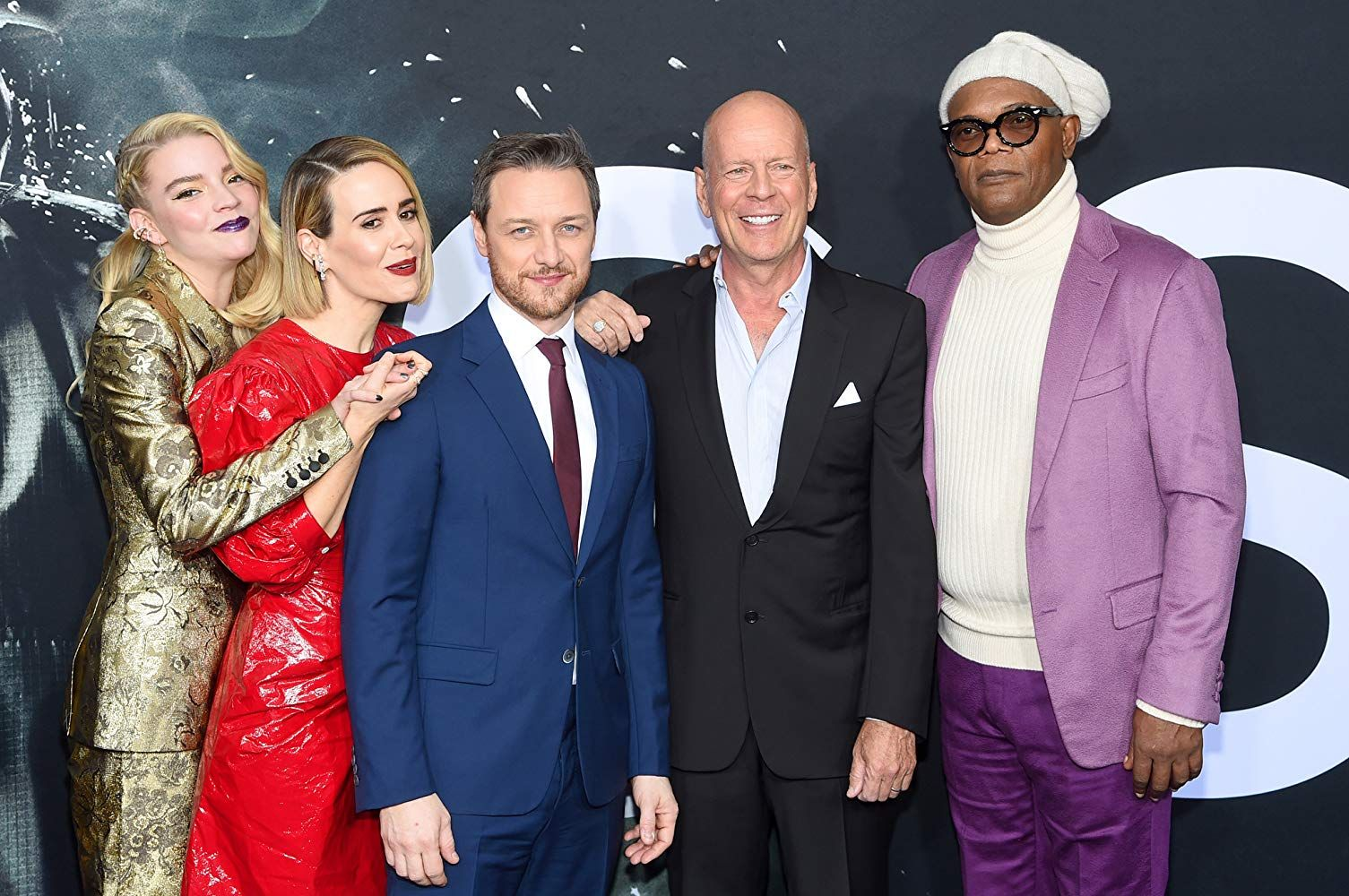 Samuel L Jackson Bruce Willis Sarah Paulson James Mcavoy And Anya Taylor Joy At An Event For Glass 201 James Mcavoy Anya Taylor Joy Split Anya Taylor Joy