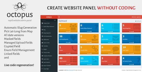 octopus - rapid website admin panel | website and psd templates, Powerpoint templates