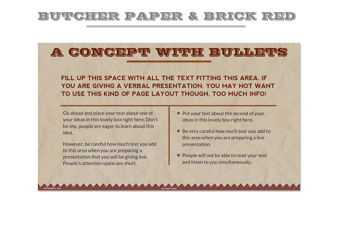 Butcher paper powerpoint template powerpoint templates