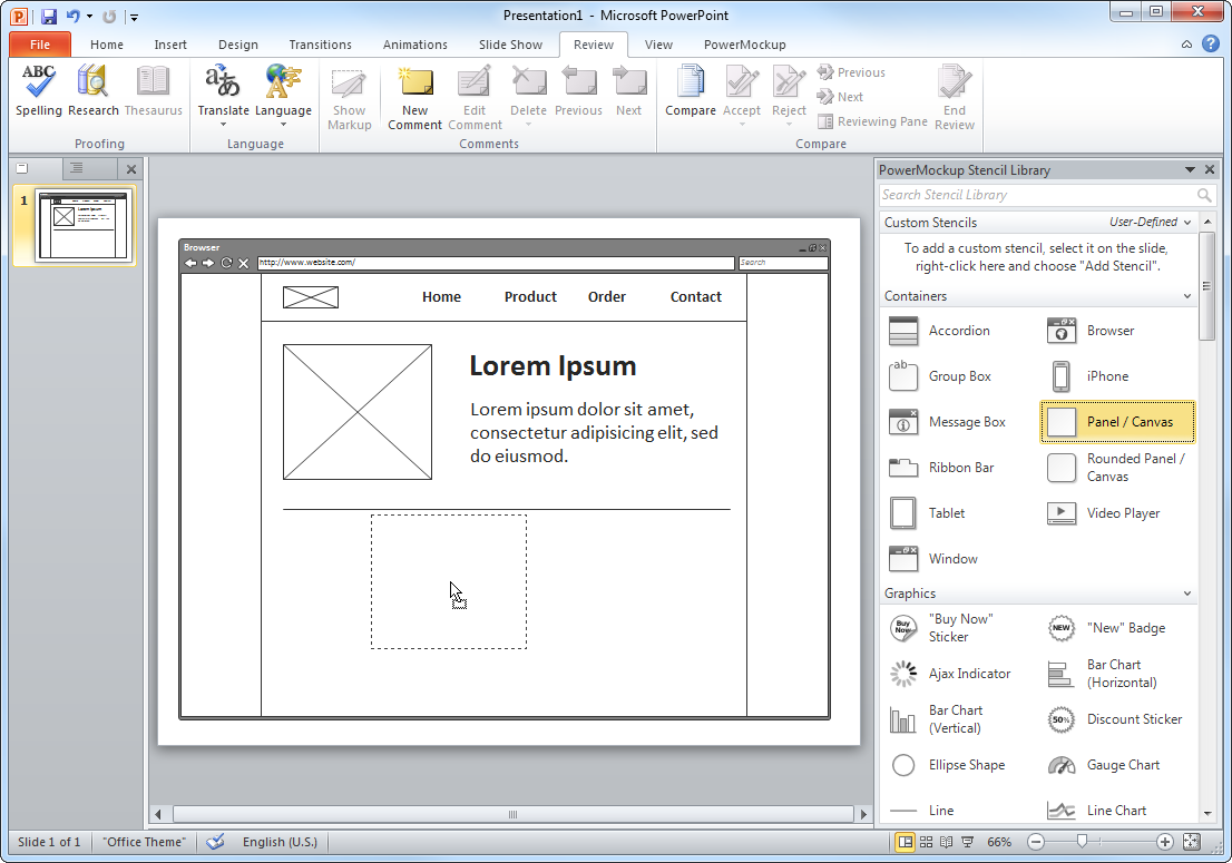 Wireframing And Storyboarding Tool For Powerpoint Powermockup Powerpoint Prototyping Tools Microsoft Powerpoint