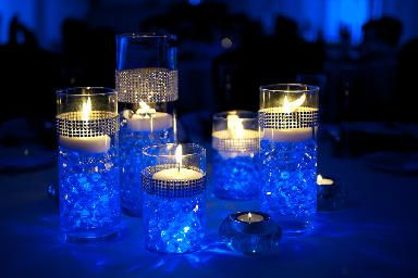 Wix Com Wedding Themes Water Beads Centerpiece Royal Blue