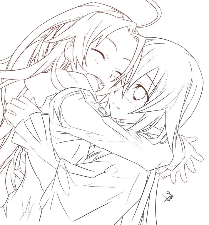 Friends Lineart Art Anime Art Manga Drawing
