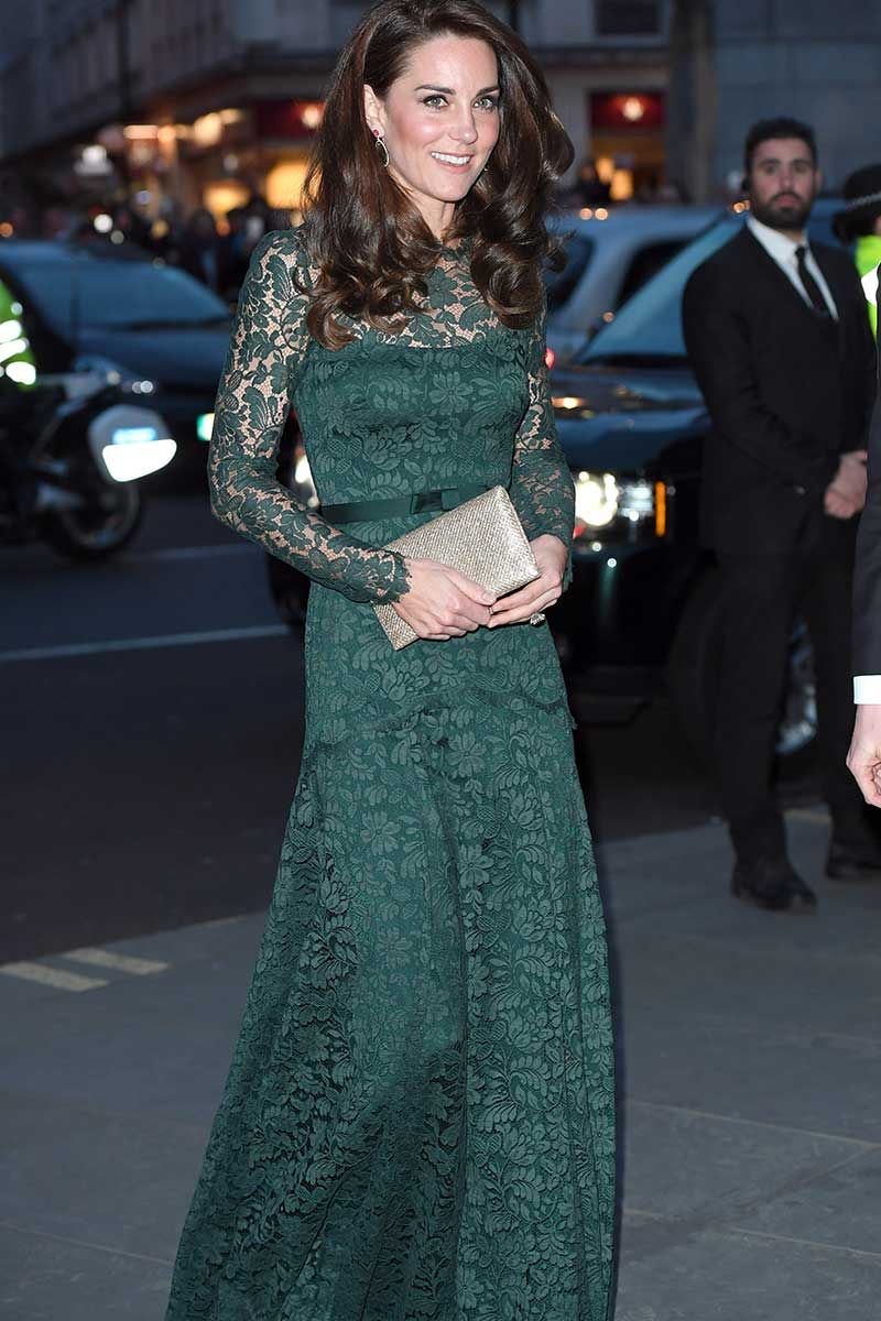 Duchess of Cambridge in gorgeous green Rochas Dress at the