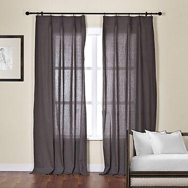 One Panel Plain Dark Grey Modern Sheer Curtain Usd 49 99