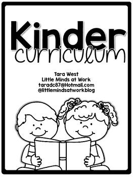 Kinder Curriculum Map FREEBIEI have compiled a year-long