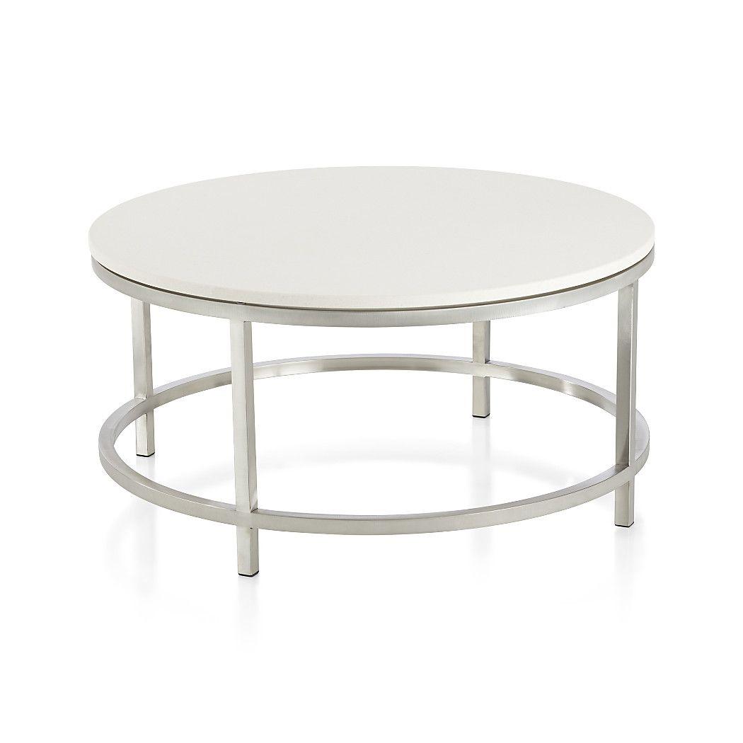 Era limestone round coffee table crates barrels and living rooms era limestone round coffee table geotapseo Choice Image