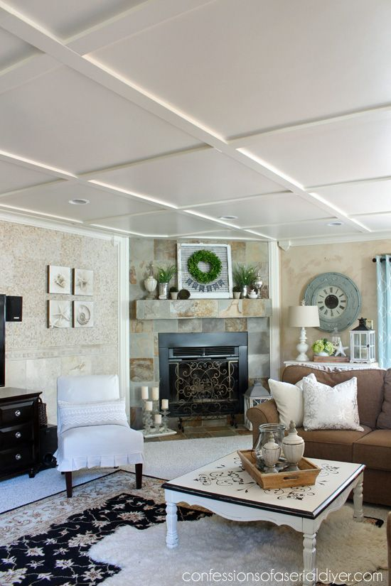 Faux Coffered Ceiling | CEILING OPTIONS | Pinterest ...