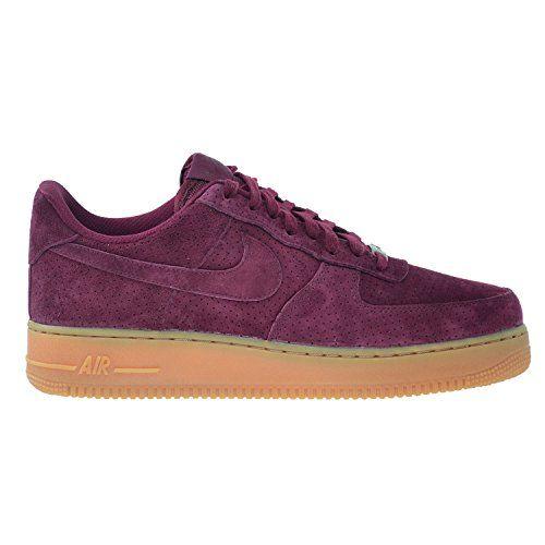Air 07 Deep Garnet 1 Nike Shoes Force Womens Suede Garnetdeep cRjq35ALS4