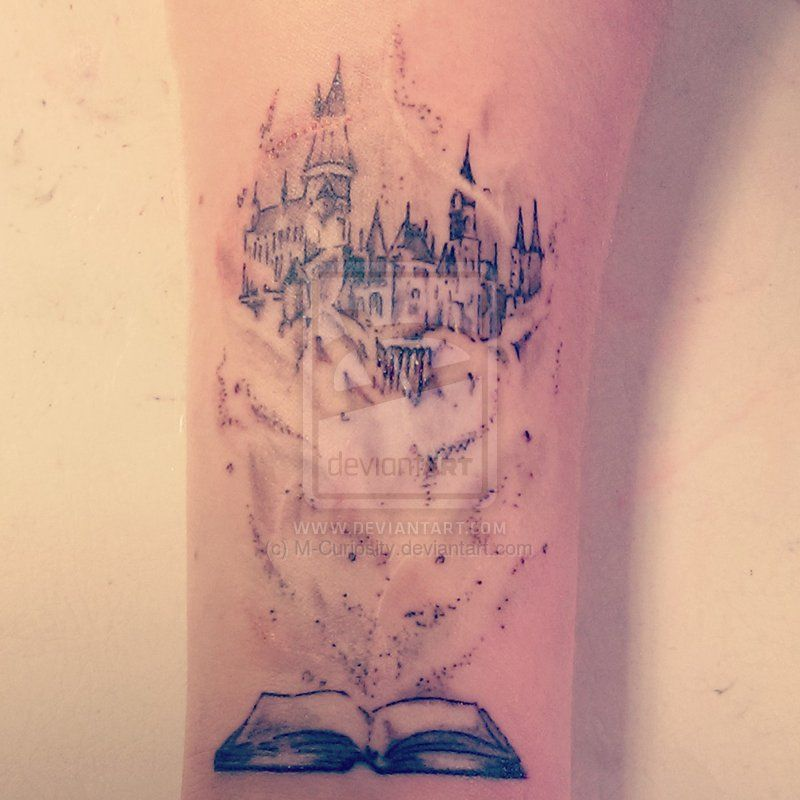 Tattoo Line Drawing Books : Hogwarts fairytale by m curiosity viantart on