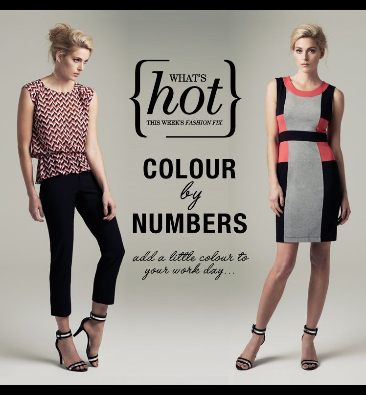 What's Hot this week - Colour by Numbers #workwear #tailoredformax
