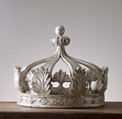 RH Baby & Child's Pewter Canopy Bed Crown:Our grand pewter crown commands  attention, transforming an ordinary room into a royal retreat. - Pewter Crown Bed Canopy 33½