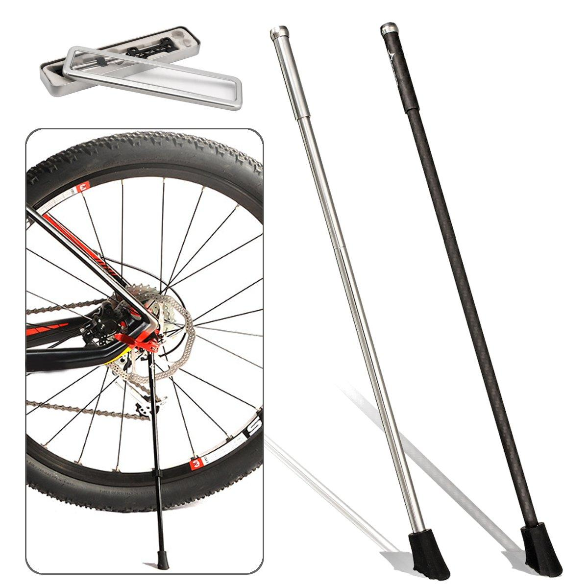 Bikight Carbon Fiber Stainless Steel Cycling Bike Kickstand Road