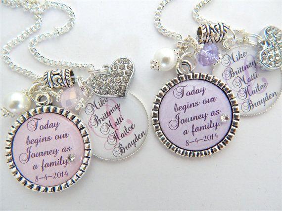 STEP DAUGHTER Gift Step Mother Purple Chram Necklace Wedding ...