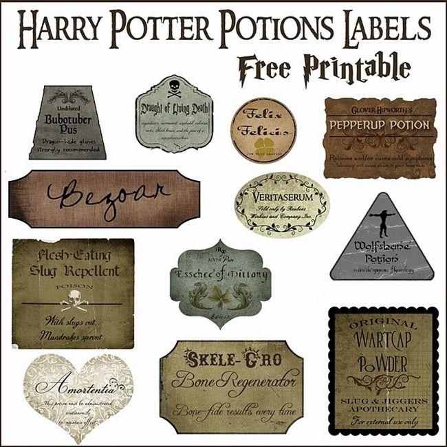 7 Harry Potter Craft Ideas Printables Everythingetsy Com Harry Potter Potion Labels Harry Potter Potions Harry Potter Printables