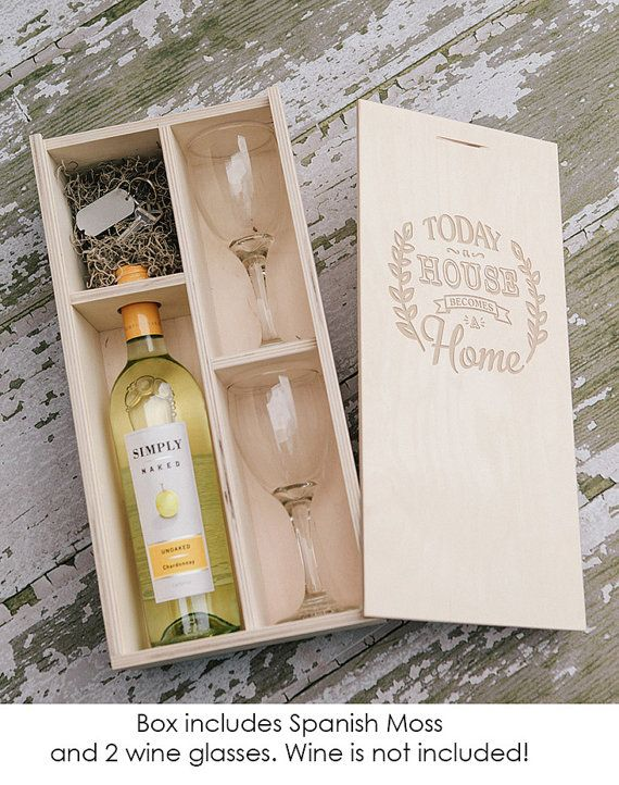 Engraved Natural Wood Wine Box With Enough Space For A Usb Drive 2