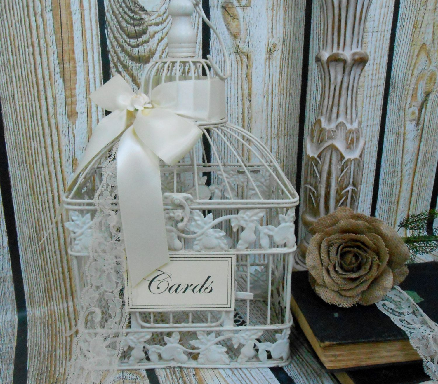 Small Wedding Birdcage Card Holder Wedding Card Box Wedding Wishes
