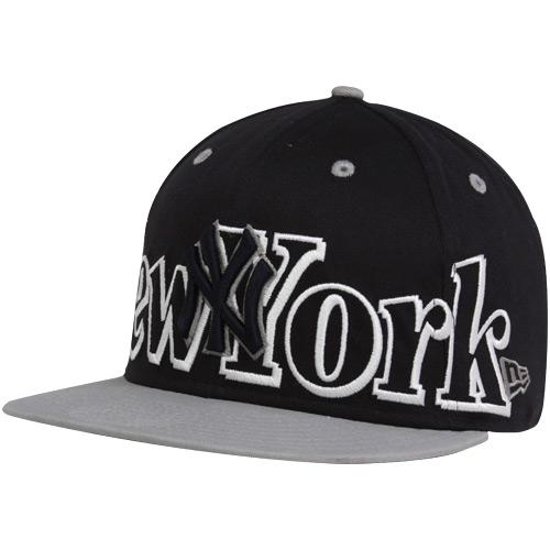 los angeles 9460c edd04 New Era New York Yankees Navy Blue-Gray Big City Punch 9FIFTY Snapback  Adjustable Hat