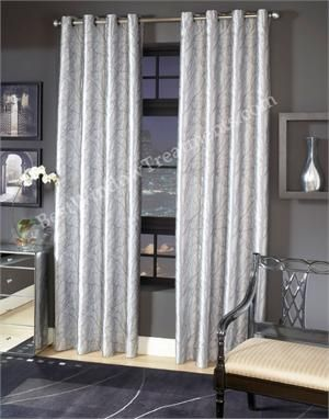 Element Tree Curtain Panel In Platinum Silver Grey Color Tree