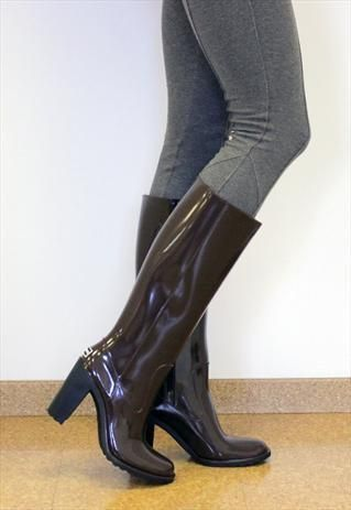 high heel wellies  pitkävartiset saappaat saappaat