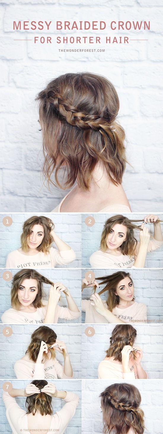 5 Tutoriales de Peinados Fáciles para cabello corto a los hombros ...