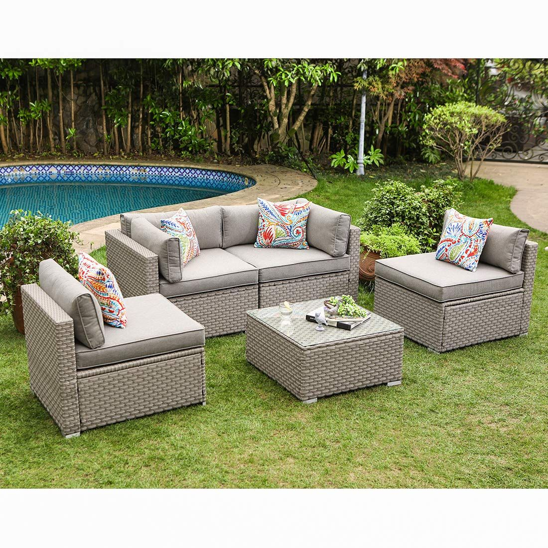 Cosiest Furniture Sectional Cushions Backyard In 2020 Outdoor Furniture Sets Outdoor Furniture Outdoor Wicker Chairs