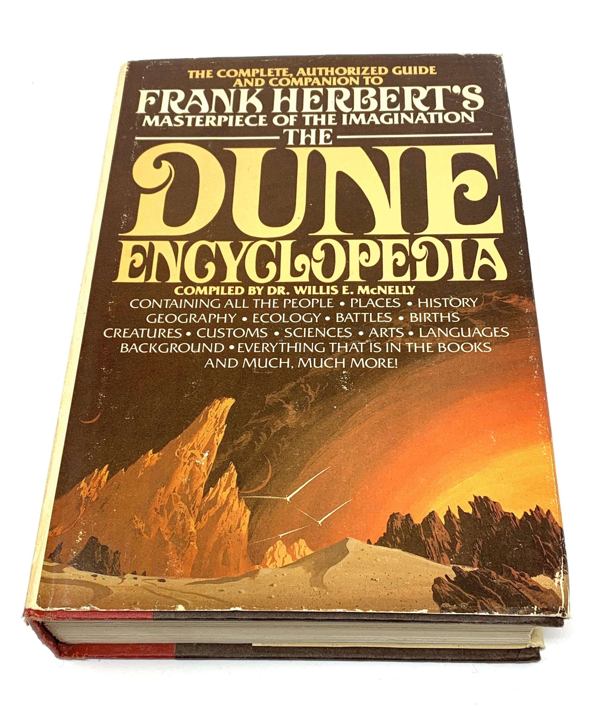 The Dune Encyclopedia Rare Hardbound Dr Willis Mcnelly 1984 Bce