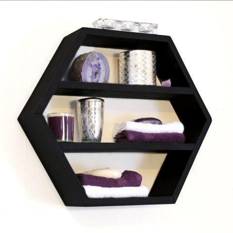 Modern Furniture - Wooden Geometric Wall Shelves - Hexagon Honeycomb - Bathroom Home Decor - Floating Shelf - Large Custom Shelf