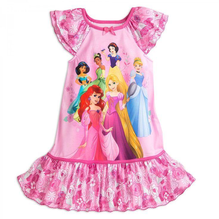 60b651305 Disney Store Princess Ariel Jasmine Rapunzel Snow White Nightshirt ...
