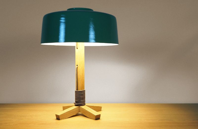 The Sr Br Table Lamp With Brendan Ravenhill Takes His Grain Drum Shade And Pairs It A White Oak St
