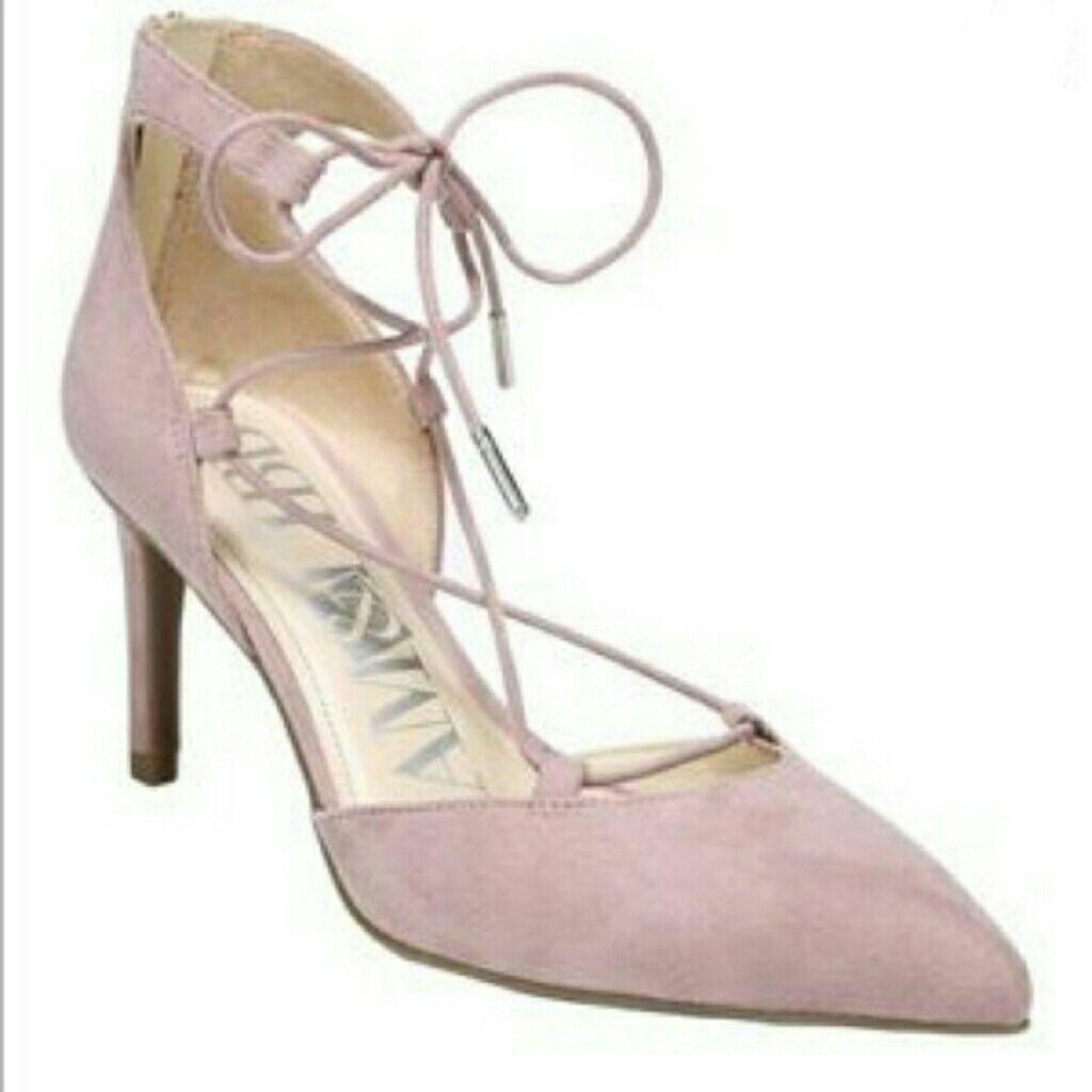 812ca2b7e02 Nwot Sam   Libby Blush Lace Up Heels