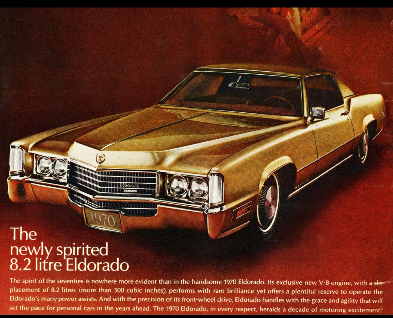 1970 Cadillac Eldorado 8.2 litre | Retro Car Ads | Pinterest ...