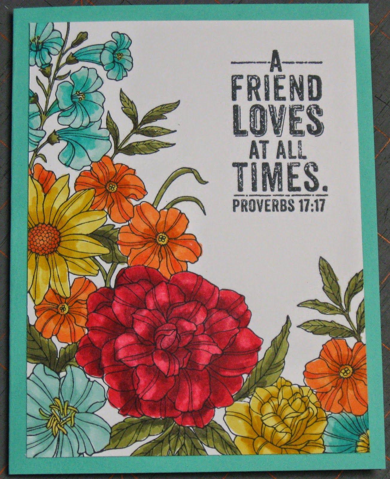 Corner Floral Garden Area: Stampin' On The Prairie: Corner Garden Background Stamp