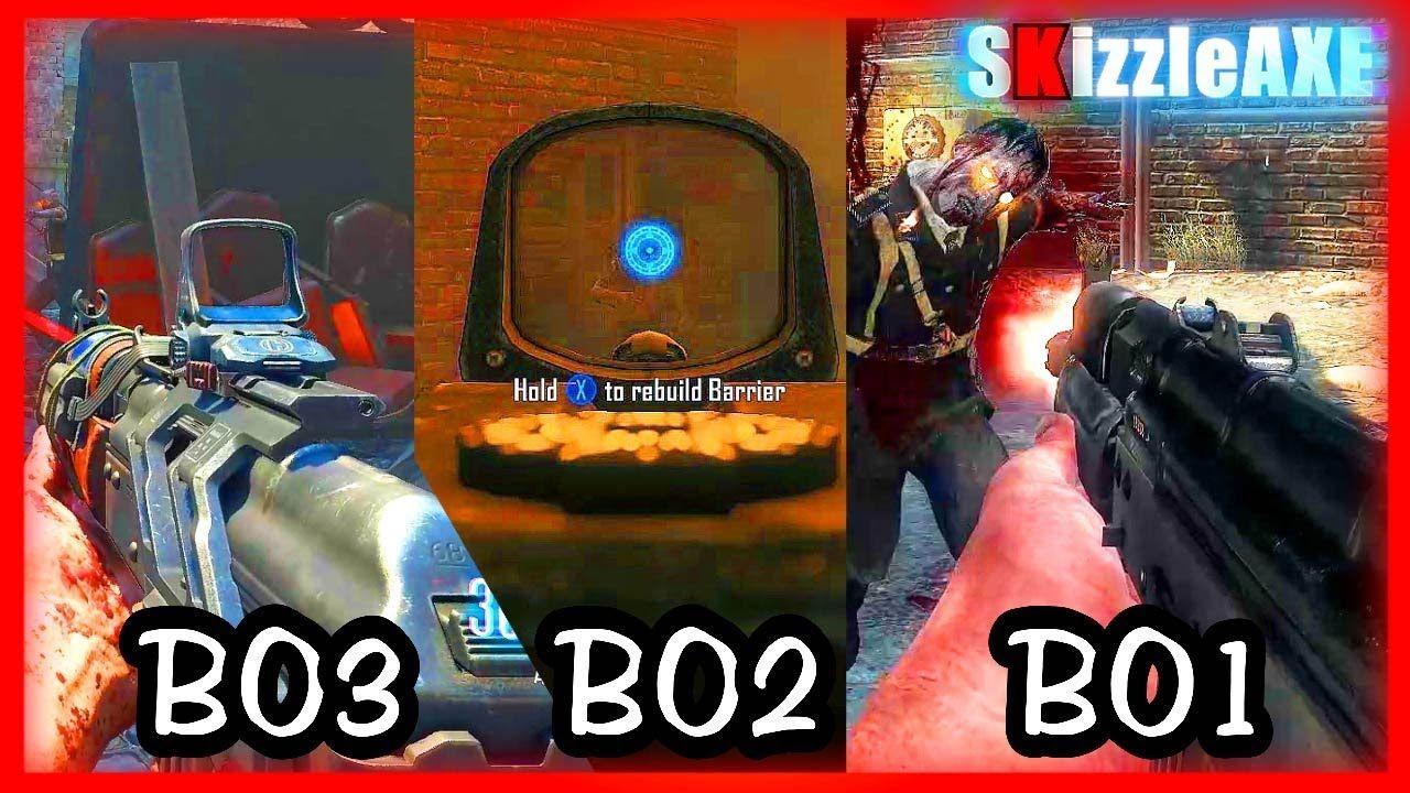 BO1 vs BO2 vs BO3: AK47u GAMEPLAY! BLACK OPS 3 ZOMBIES AK74u