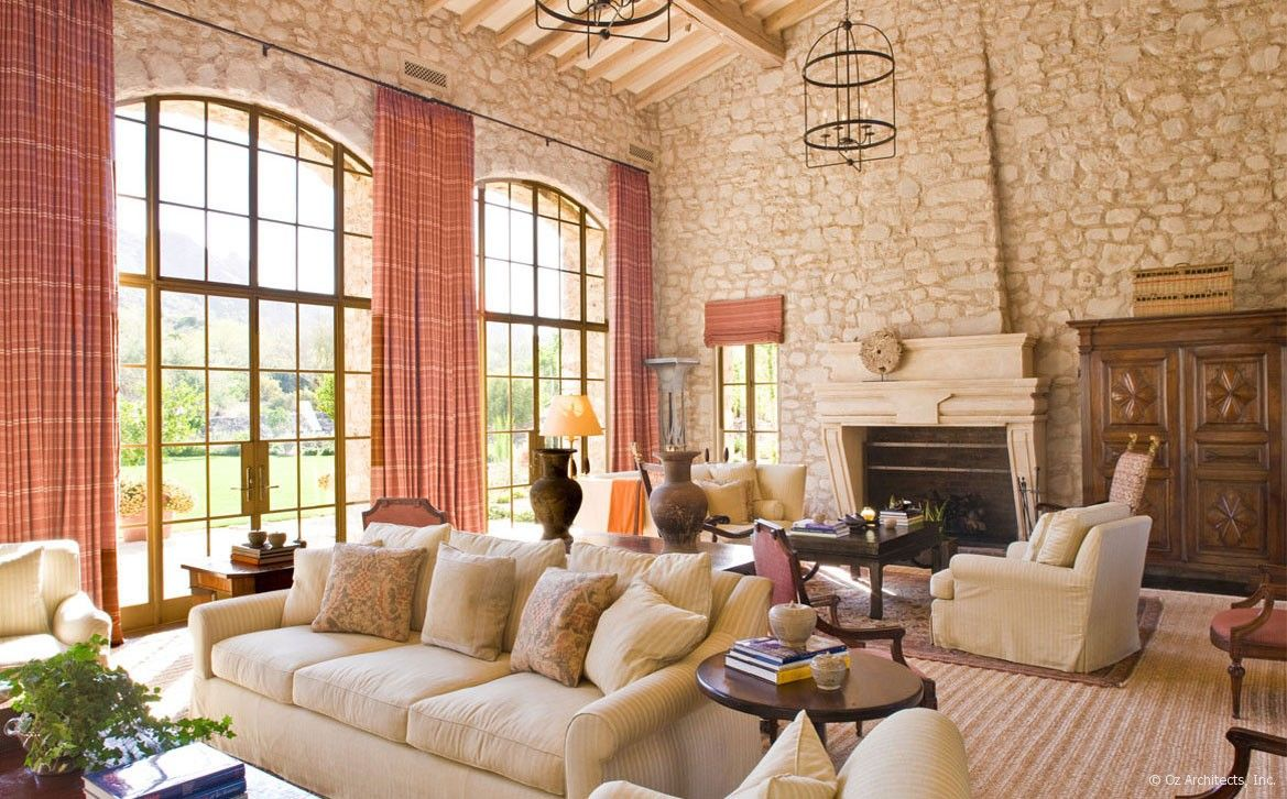 Oz Architects, living room with Camelback Mountain views