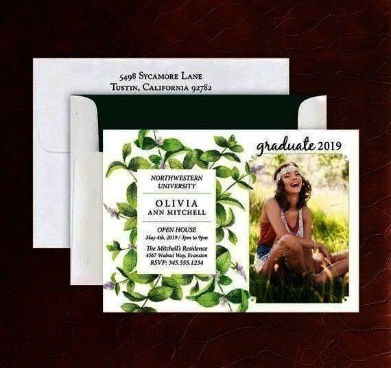 Custom Photo Cards  Grad Announcement  4085 Ivy Vines Graduation Invite Custom Photo Cards  Grad Announcement  4085 Ivy Vines Graduation Invite Custom Photo Cards  Grad A...