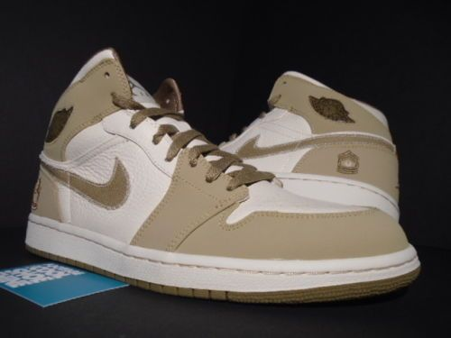 promo code 535f2 d271d 08 NIKE AIR JORDAN I RETRO 1 MILITARY ARMED FORCES PEARL OFF WHITE WALNUT  OG 11