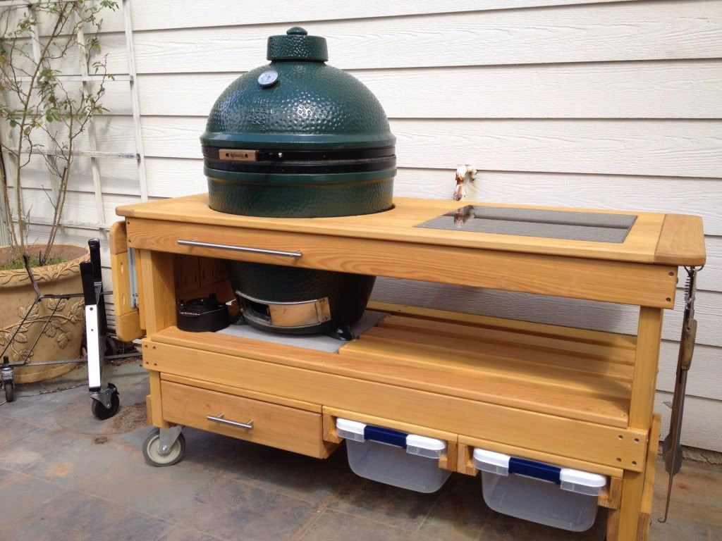 High Quality Cypress Table   Big Green Egg   EGGhead Forum   The Ultimate Cooking  Experience.