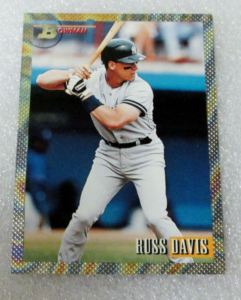 1993 BOWMAN RUSS DAVIS ROOKIE BASEBALL CARD! PLAYER OF THE