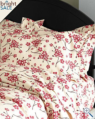 The Best Flannel Sheets Love This Cozy Cheery Cherry Blossom