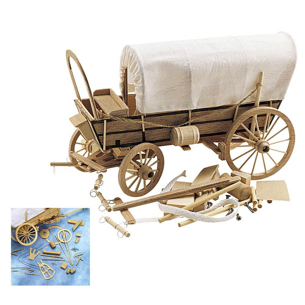 covered wagon wooden model kit | wood working plans | wooden