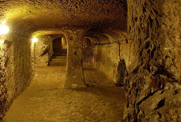 The Underground City Of Cappadocia Turkey Ancient Underground City Underground Tunnels Underground Cities