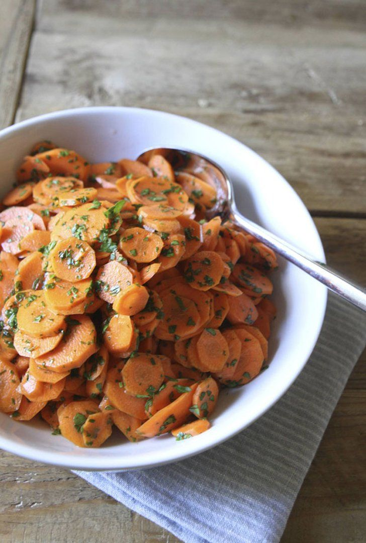 Carrot Coin Salad With Parsley