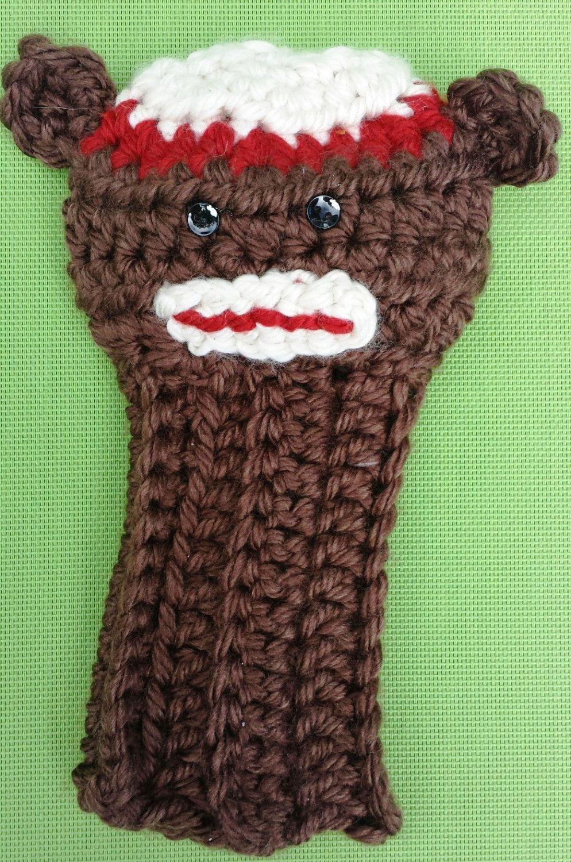 Nostalgic Sock Monkey Golf Club Cover by CrochetedHeadwear on Etsy