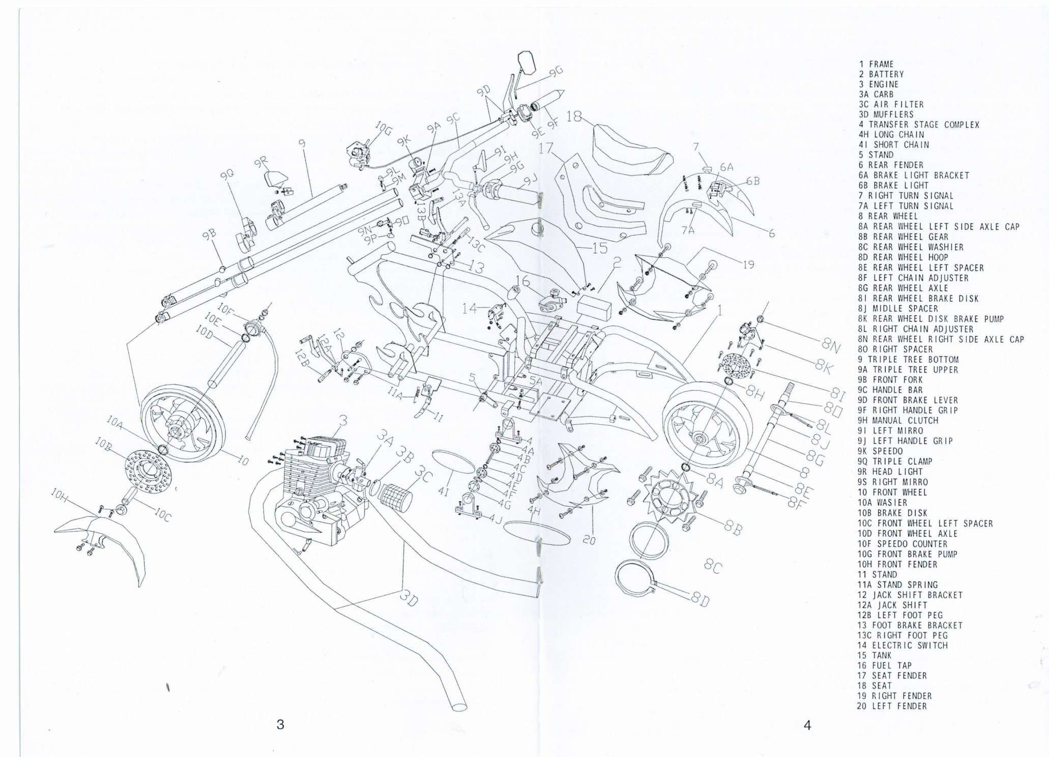 Electric Scooter Wiring Diagram Owner U0026 39 S Manual And Scooter