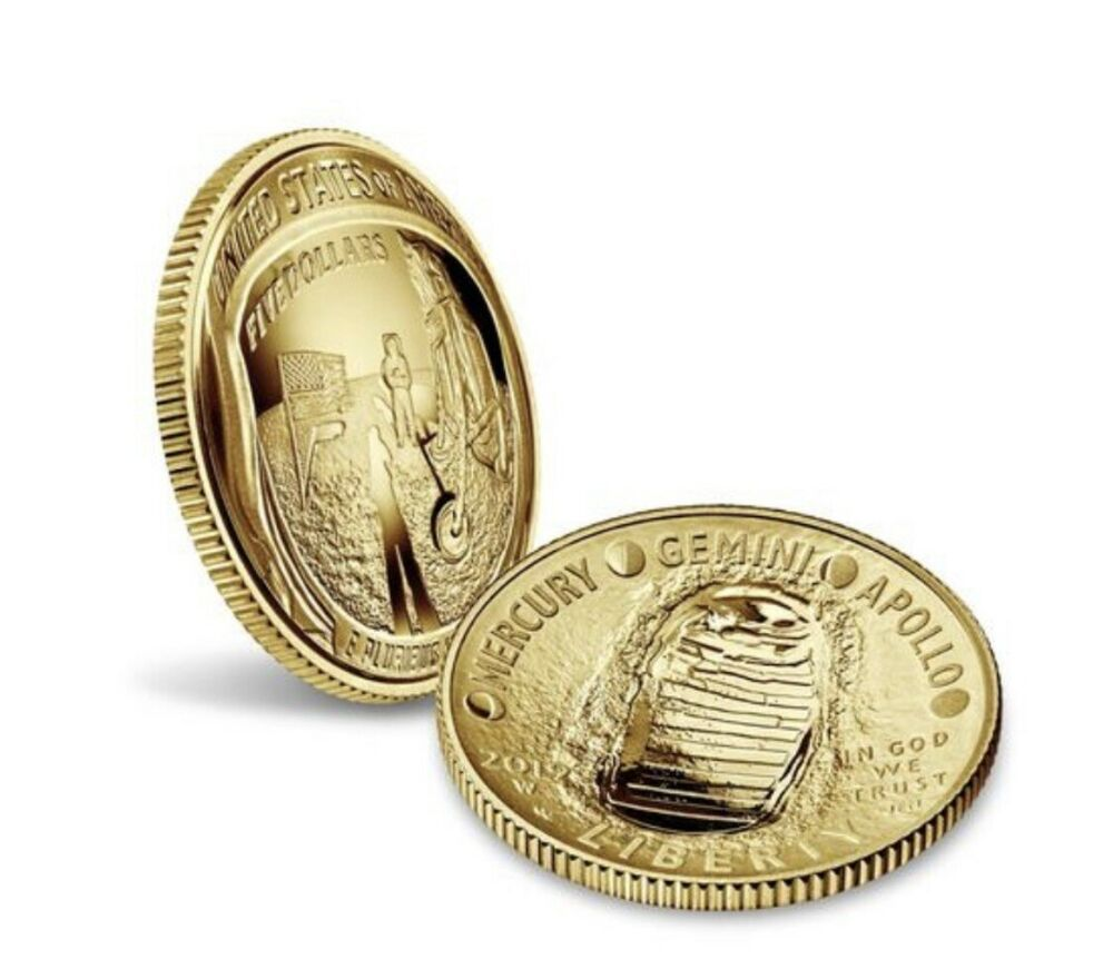 Apollo 11 50th Anniversary 2019 W Proof 5 Gold Coin In Transit